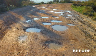 Potholes-Before