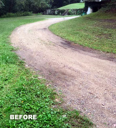 Local Driveway Before